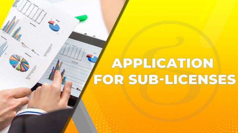 Sublicense service FDI